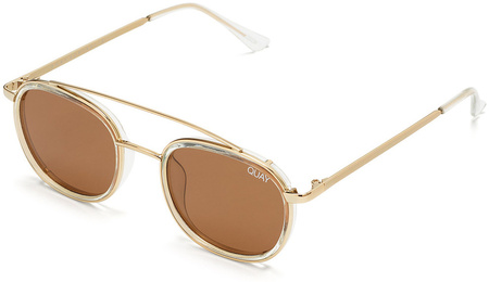 Quay Sunglasses Got It Covered Clear, Brown Lenses
