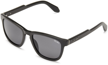 Quay Sunglasses Hardwire Black, Smoke Lenses