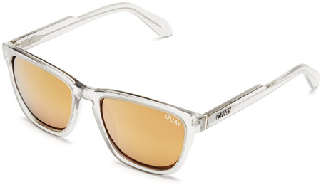 Quay Sunglasses Hardwire Grey, Peach Mirror Lenses
