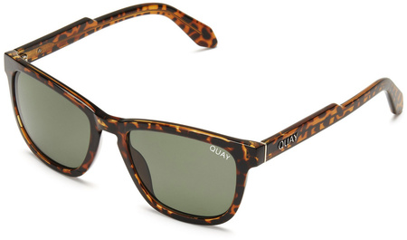 Quay Sunglasses Hardwire Tort, Green Lenses