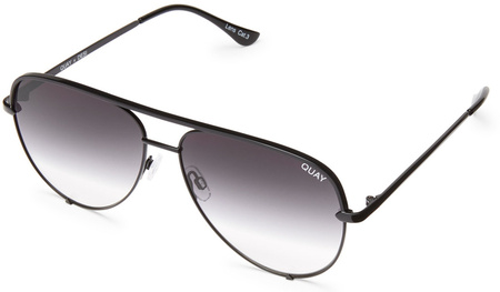Quay Sunglasses High Key Black, Smoke Fade Lenses