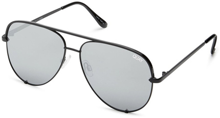 Quay Sunglasses High Key Black, Silver Mirror Lenses