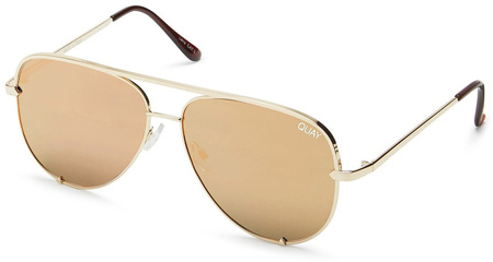 Quay Sunglasses High Key Gold, Gold Mirror Lenses