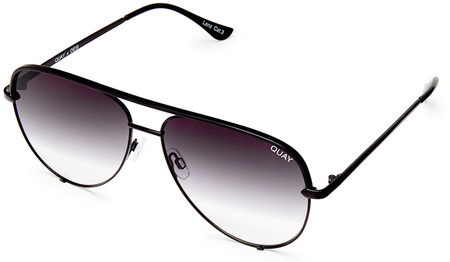 Quay Sunglasses High Key Mini Black, Smoke Fade Lenses