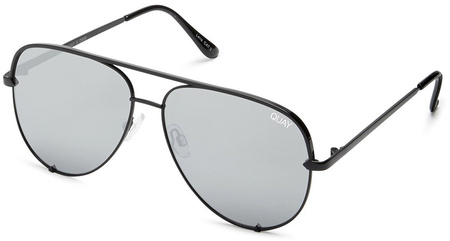 Quay Sunglasses High Key Mini Black, Silver Mirror Lenses