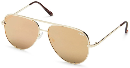 Quay Sunglasses High Key Mini Gold, Gold Mirror Lenses