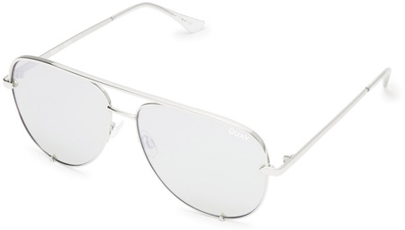 Quay Sunglasses High Key Silver, Silver Mirror Lenses