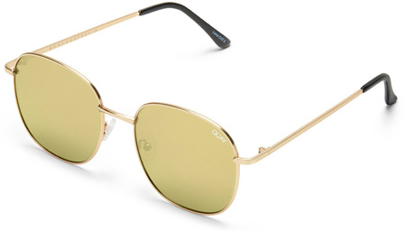 Quay Sunglasses Jezabell Gold, Gold Mirror Lenses