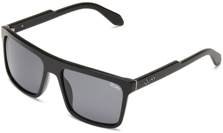 Quay Sunglasses Let It Run Black, Smoke Lenses