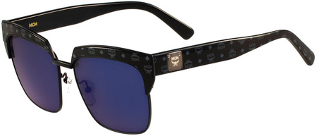MCM 102s Sunglasses Matte Black, Blue Lenses