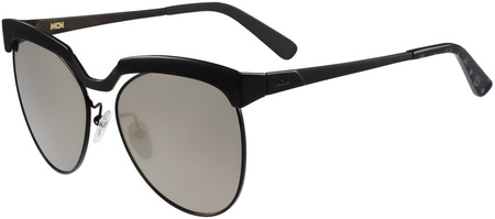 MCM 105s Sunglasses Shiny Black, Grey Lenses