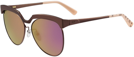 MCM 105s Sunglasses Shiny Bronze, Gold Mirror Lenses
