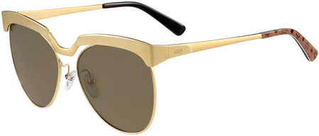 MCM 105s Sunglasses Shiny Gold, Brown Lenses