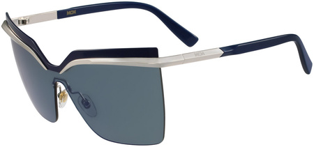 MCM 106s Sunglasses Silver, Navy/Blue Lenses