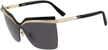 MCM 106s Sunglasses Gold, Black/Grey Lenses