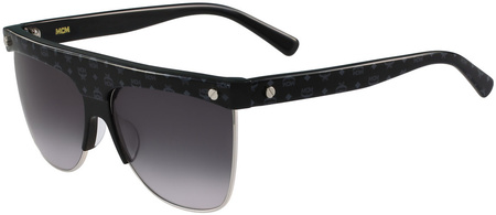 MCM 107s Sunglasses Black, Silver/Grey Gradient Lenses