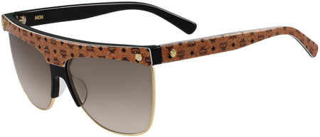MCM 107s Sunglasses Cognac, Gold/Brown Gradient Lenses