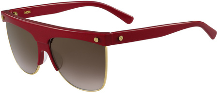 MCM 107s Sunglasses Red, Gold/Brown Gradient Lenses