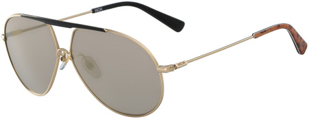MCM 114s Sunglasses Gold, Gold Mirror Lenses