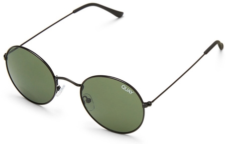 Quay Sunglasses Mod Star Black, Green Lenses