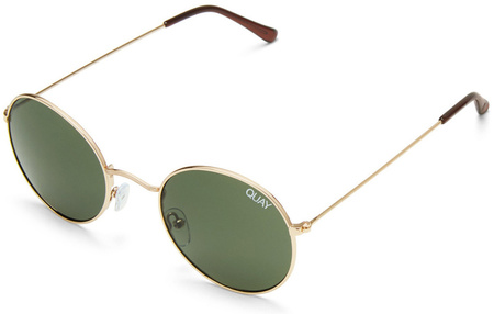 Quay Sunglasses Mod Star Gold, Green Lenses