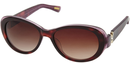 Morrissey Glitz Sunglasses Tort and Gold, Brown Gradient Lenses