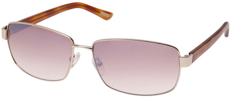 Morrissey Lucky Seven Sunglasses Gold Tort, Brown Flash Mirror
