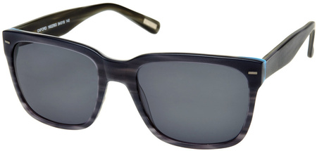 Morrissey Oxford Sunglasses Grey Horn and Gunmetal, Smoke Mono