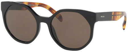 Prada PR 11TS Sunglasses Black, Brown Lenses