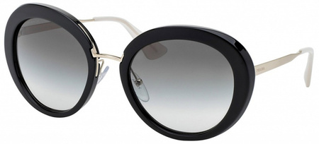 Prada PR 16QS Black, Grey Gradient Lenses