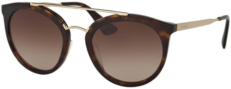 Prada PR 23SS Sunglasses Havana, Brown Gradient Lenses