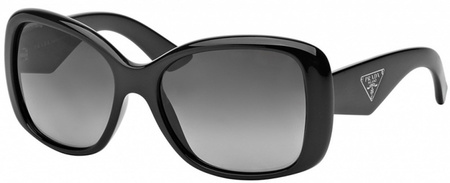 Prada PR 32PS Sunglasses Black, Grey Gradient Polarised Lenses