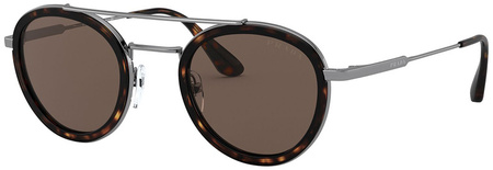 Havana and Gunmetal/Brown Lenses 46 Eye Size