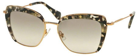 Miu Miu Sunglasses 52QS Gold Black Tort, Grey Gradient