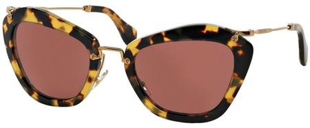 Miu Miu Sunglasses 10NS Tort, Rose Lenses