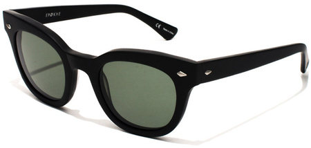 Epokhe Sunglasses Dylan Matte Black, Green lenses