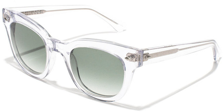 Epokhe Sunglasses Dylan Crystal, Green Gradient Lenses