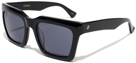 Epokhe Sunglasses Boris Gloss Black, Black Lenses