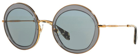 Miu Miu Sunglasses 50QS Grey and Gold, Grey Lenses