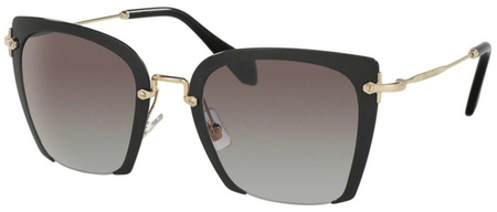 Miu Miu Sunglasses 52RS Black, Grey Gradient Lenses