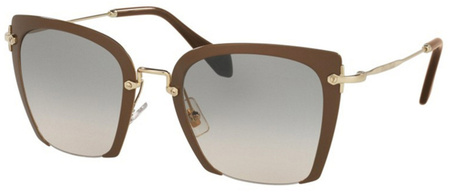 Miu Miu Sunglasses 52RS Beige, Brown Gradient Lenses