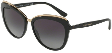 Dolce & Gabbana 4304 Black, Grey Gradient Sunglasses