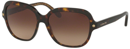 Coach Sunglasses 8192 Dark Tort, Brown Gradient Lenses