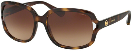 Coach Sunglasses 8169 Dark Tort, Brown Gradient Lenses