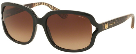 Coach Sunglasses 8169 Black, Brown Gradient Lenses