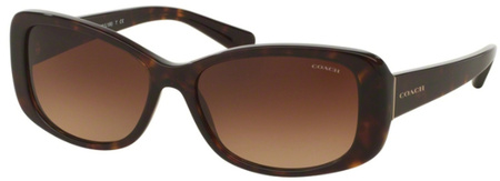 Coach Sunglasses 8168 Dark Tort, Brown Gradient Lenses