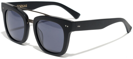 Epokhe Sunglasses Isay Black and Matte Black, Black Lenses