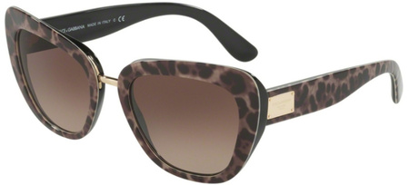 Dolce & Gabbana 4296 Leoprint, Brown Gradient Sunglasses