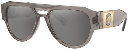 Transparent Grey/Light Grey Silver Mirror Lenses