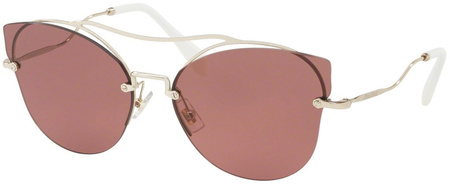 Miu Miu Sunglasses 52SS Pale Gold, Violet Lenses